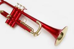 Trombeta vermelha Fotografia de Stock Royalty Free