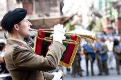 Trombettiere italiane dell'esercito Fotografie Stock Libere da Diritti
