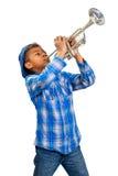 Trombettista di jazz Fotografie Stock