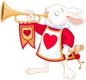 Trombettista reale del coniglietto Fotografia Stock Libera da Diritti