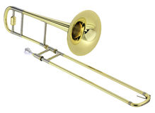 Trombone. On white background Royalty Free Stock Image