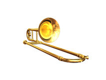 Trombone. Isolated from white background Stock Photo