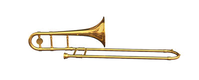Trombone. Isolated from white background Stock Images