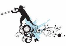 Trombone. Illustration of a man playing trombone royalty free illustration