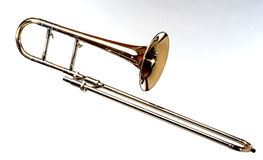 Trombone. Isolated music instrument Royalty Free Stock Photos