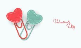 Trombone avec le coeur pour la célébration de Saint-Valentin Photographie stock libre de droits