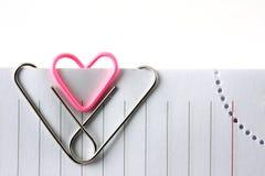 Trombone de forme de coeur Photographie stock