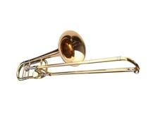 Trombone de glissière en laiton Image stock