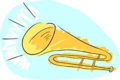 Trombone Doodle Stock Photos