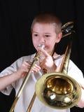 trombone för 5 spelare Arkivbild