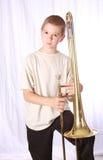 trombone för 9 spelare Royaltyfria Foton