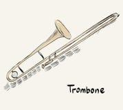 Trombone Stock Photo