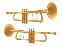 Trombone isolated. Multiple angles of view Stock Photo