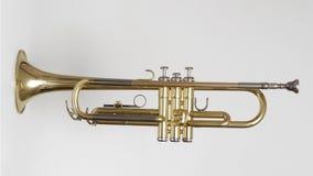 Trombone Isolated On White Stock Photos