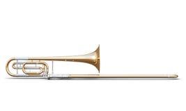 Trombone isolated on white background Royalty Free Stock Photo