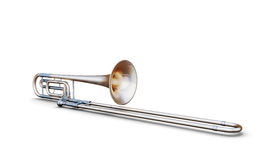 Trombone isolated on white Royalty Free Stock Images