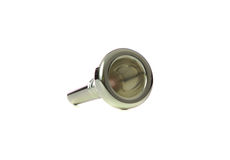 Trombone Mouthpiece with Shadow. Trombone or Baritone Mouthpiece isolated on white stock images