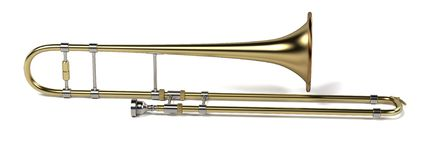 Trombone musical instrument Stock Photography