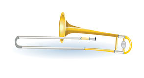 Trombone musical instrument Royalty Free Stock Photography