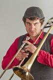 Trombone Musician Stock Images