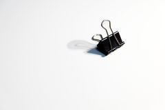 Trombone noir sur le fond blanc photos stock