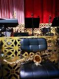 Trombone op de stoel - onderbrekingsorkest royalty-vrije stock afbeelding