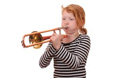 Trombone player Royalty Free Stock Image