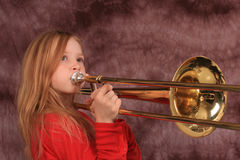 Trombone player 4 Royalty Free Stock Image