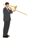 Trombone player Stock Image