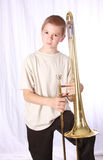 Trombone player 9 royalty free stock photos