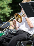 Trombone player Royalty Free Stock Photo