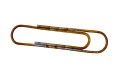Trombone rouillé d'isolement sur le fond blanc Photo stock