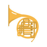 Trombone tuba trumpet classical sound vector illustration. Stock Photography