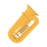 Trombone tuba trumpet classical sound vector illustration. Stock Photos