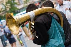 Trombone viejo Imágenes de archivo libres de regalías