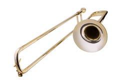 Trombone on white background Stock Photography