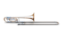 Trombone on a white Royalty Free Stock Images