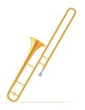 Trombone wind musical instruments stock vector illustration Stock Photo