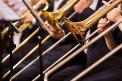 Trombones closeup Stock Photo