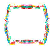 Trombones colorés d'isolement photo libre de droits