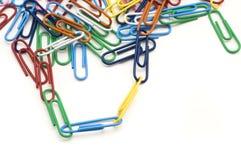 Trombones connectés Photo libre de droits