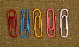 Trombones de couleur Image libre de droits