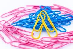 Trombones de couleur douce Photo libre de droits
