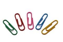 Trombones de différentes couleurs Photos libres de droits