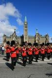 Trombones op de Heuvel van het Parlement Stock Fotografie