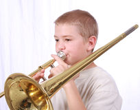 Trombonespieler 3 Stockfotografie