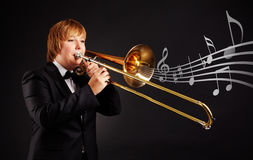 Trombonist Stock Photography