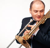 The Trombonist Stock Images