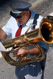 Trombonist Stock Image