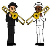 Trombonists kids Stock Image